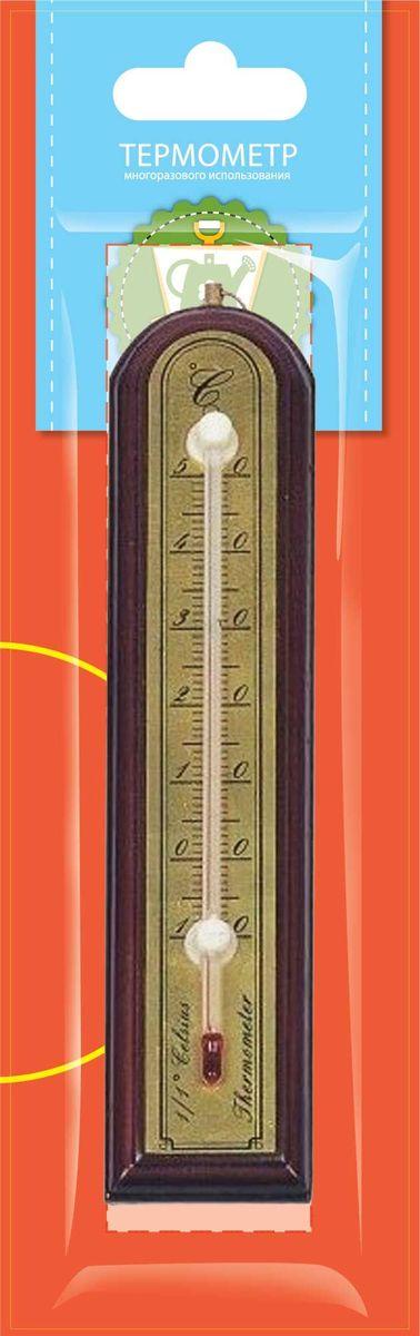 Термометр комнатный Garden Show, цвет: красное дерево, 3,9 х 18,8 см466112Термометр комнатный Garden Show предназначен для измерения температуры воздуха в помещении. Термометр выполнен из дерева, снабжен металлической шкалой и стеклянной колбой. Изделие имеет широкий рабочий диапазон температур - от -10 до +50°С со шкалой деления в 10°С. Цена деления составляет 1°С. Изделие снабжено специальным отверстием для крепления. Не содержит ртути. Рекомендуется устанавливать термометр в любом удобном для вас месте на уровне глаз, вдали от отопительных приборов, прямых солнечных лучей, кондиционеров и сквозняков, вблизи того места, где требуется выяснить температуру окружающего воздуха.