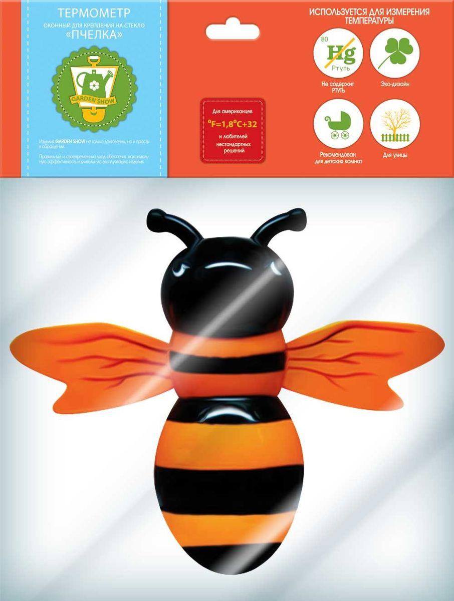 Термометр оконный Garden Show Пчелка, для крепления на стекло, 23 х 20 см466188Термометр оконный Garden Show Пчелка с силиконовыми креплениями на стекло используется для измерения температуры окружающей среды. Изделие выполнено из пластика в виде пчелки. Шкала измерения от 0°C до +50°C, и от 0°C до -40°C. Не содержит ртути. Такой термометр - идеальный вариант для детских комнат.