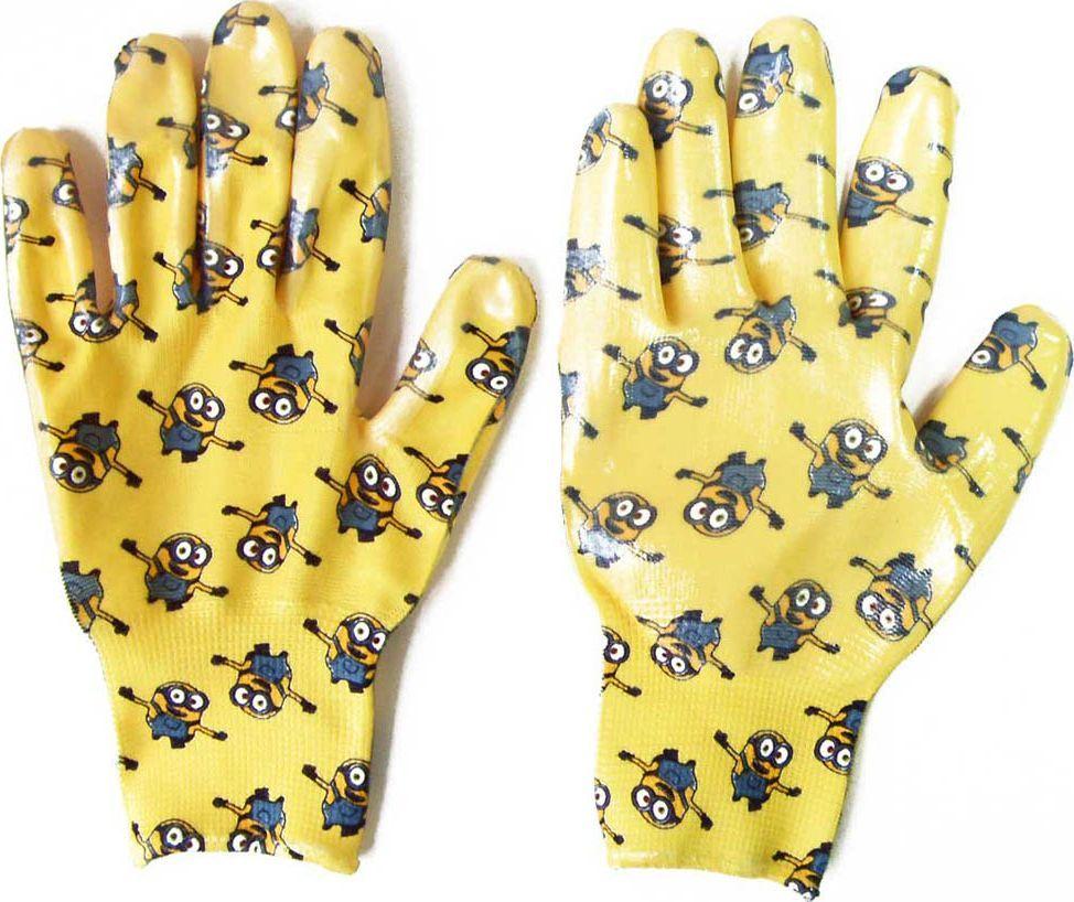 Перчатки садовые Garden Show Миньоны, нейлоновые, с нитриловым покрытием, цвет: желтый. Размер S (8)466323Перчатки садовые Garden Show Миньоны выполнены из нейлона с нитриловым покрытием, благодаря чему предметы в руках не скользят. Эластичные манжеты надежно фиксируют перчатки на руке. Такие перчатки защитят руки от влаги, грязи и царапин при выполнении садовых работ. Изделия дополнены красочным изображением миньонов.Уважаемые клиенты!Обращаем ваше внимание на возможные изменения в цветовом ассортименте. Качественные характеристики товара остаются неизменными. Поставка осуществляется в зависимости от наличия на складе.