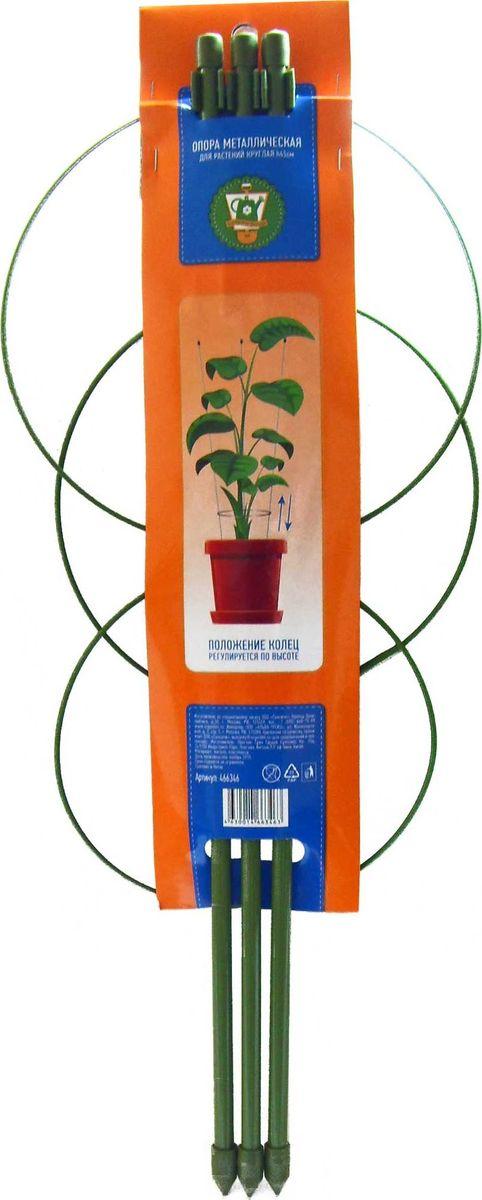 Опора для растений Garden Show, круглая (3 кольца), высота 45 см466346Опора для растений с 3 кольцами Garden Show выполнена из металла и защищена пластиковой оплеткой, которая предотвращает появление коррозии. Такая опора используется для поддержки садовых и комнатных растений. Также незаменима при создании сложных декоративных конструкций на балконах, террасах и дачных участках. Легко и без усилий устанавливается в грунт и надежно закрепляется. Изделие можно использовать круглый год, оно не выгорает на солнце, не деформируется от мороза и сохраняет неизменный внешний вид даже после долгой эксплуатации.