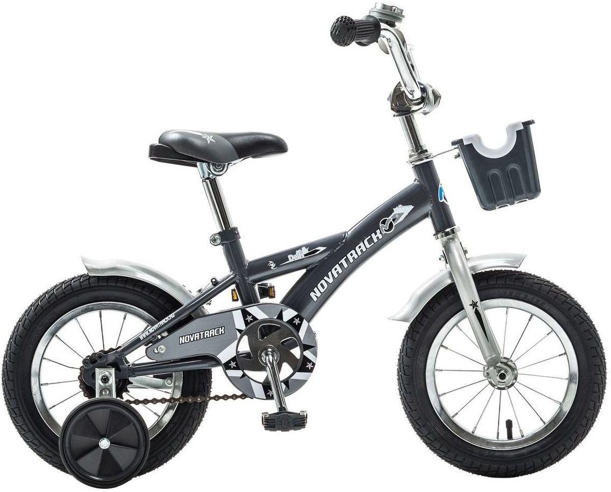 Велосипед детский Novatrack Delfi, цвет: серый, белый, 12 детский велосипед novatrack delfi 14 2015 blue