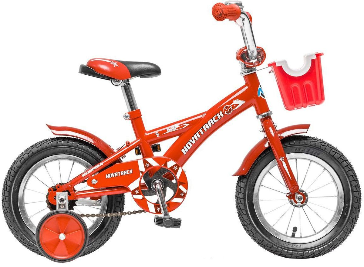 Велосипед детский Novatrack  Delfi , цвет: красный, белый, 12  - Детские велосипеды