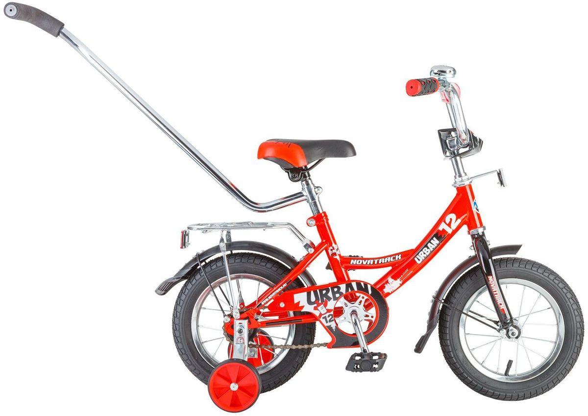 Велосипед детский Novatrack Urban, цвет: красный, 12 велосипед не скоростной