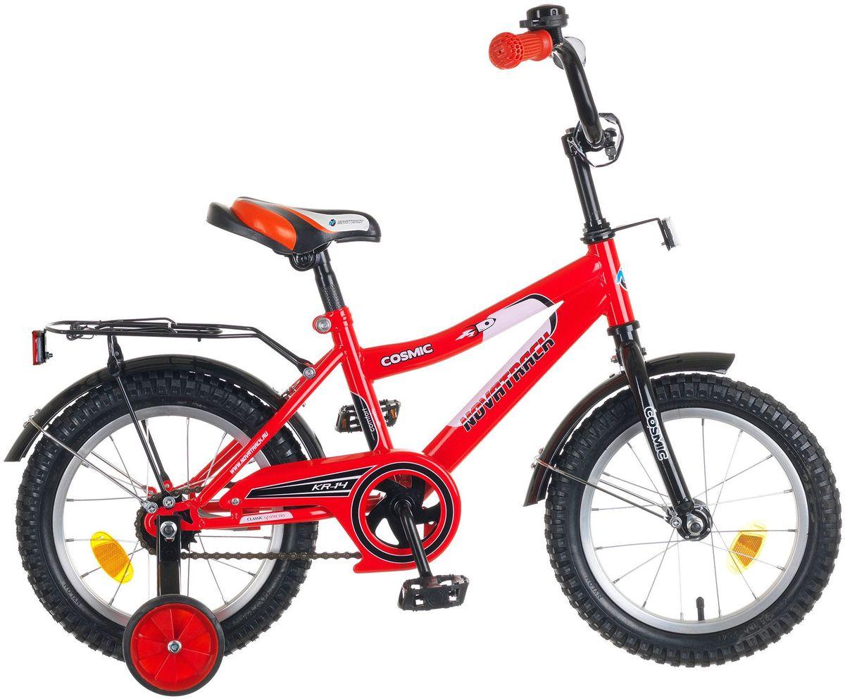 Велосипед детский Novatrack Cosmic, цвет: красный, черный, 14 детский велосипед для мальчиков novatrack cosmic 14 2017 blue