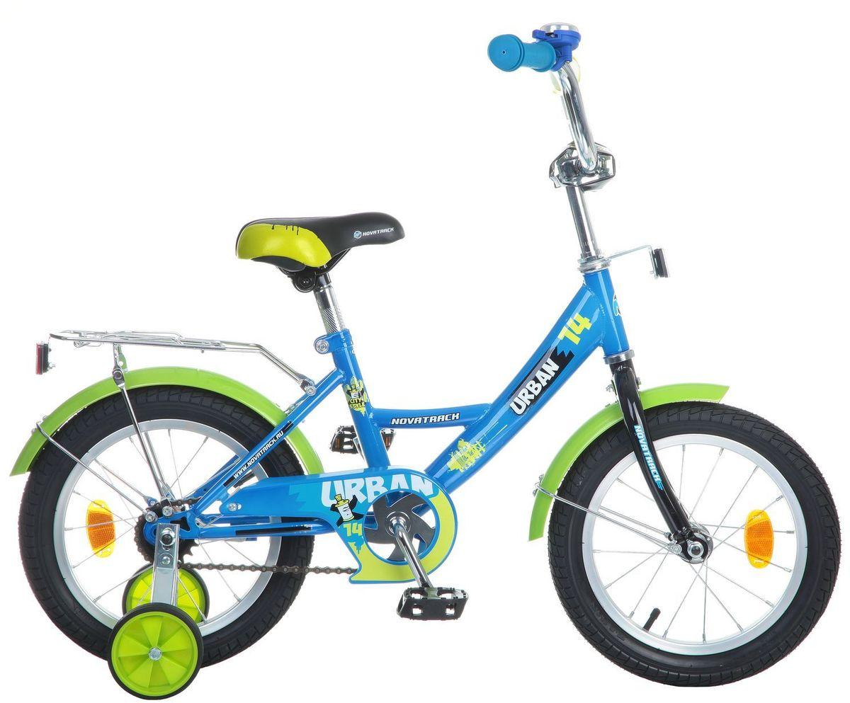Велосипед детский Novatrack Urban, цвет: синий, 14 велосипед не скоростной