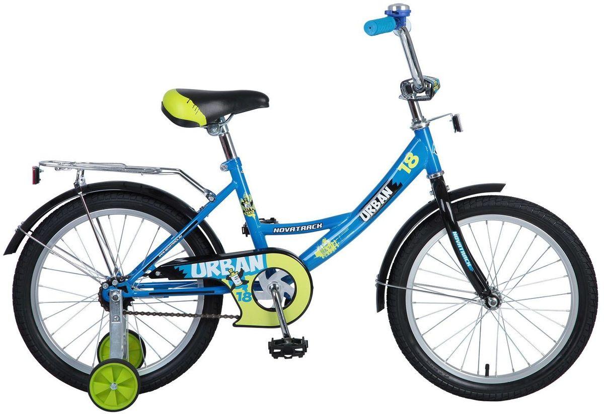 Велосипед детский Novatrack Urban, цвет: синий, 18 детский велосипед novatrack urban 16 blue