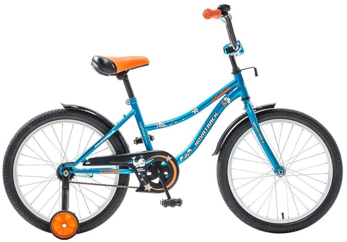 Велосипед детский Novatrack Neptune, цвет: синий, оранжевый, 20203NEPTUN.BL5Novatrack Neptune - это отличный подарок для ребенка 7-10 лет. Эта модель объединяет в себе привлекательный дизайн, легкость, отличную управляемость и универсальность. Ваш ребенок будет просто счастлив, став обладателем такой замечательной техники. Велосипед полностью подготовлен для того, чтобы маленьким велосипедистам было комфортно и интересно учиться самостоятельно кататься. Яркий дизайн, регулируемые сидение и руль с надежной фиксацией, защита цепи, велосипедный звонок, мягкие накладки на руле, катафоты, стильные укороченные крылья - все продумано до мелочей.