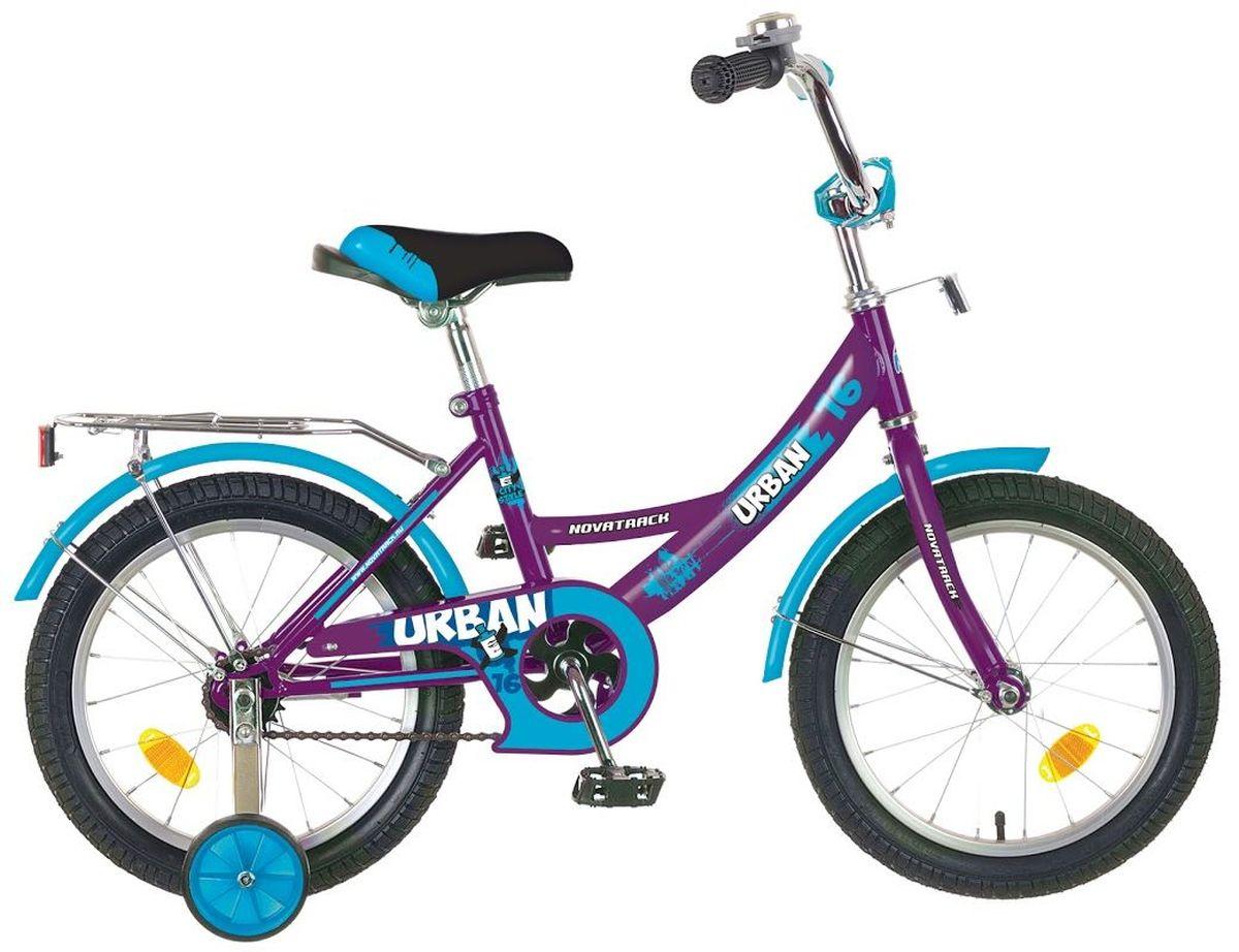 Велосипед детский Novatrack Urban, цвет: сливовый, голубой, 20 детский велосипед novatrack urban 20 blue