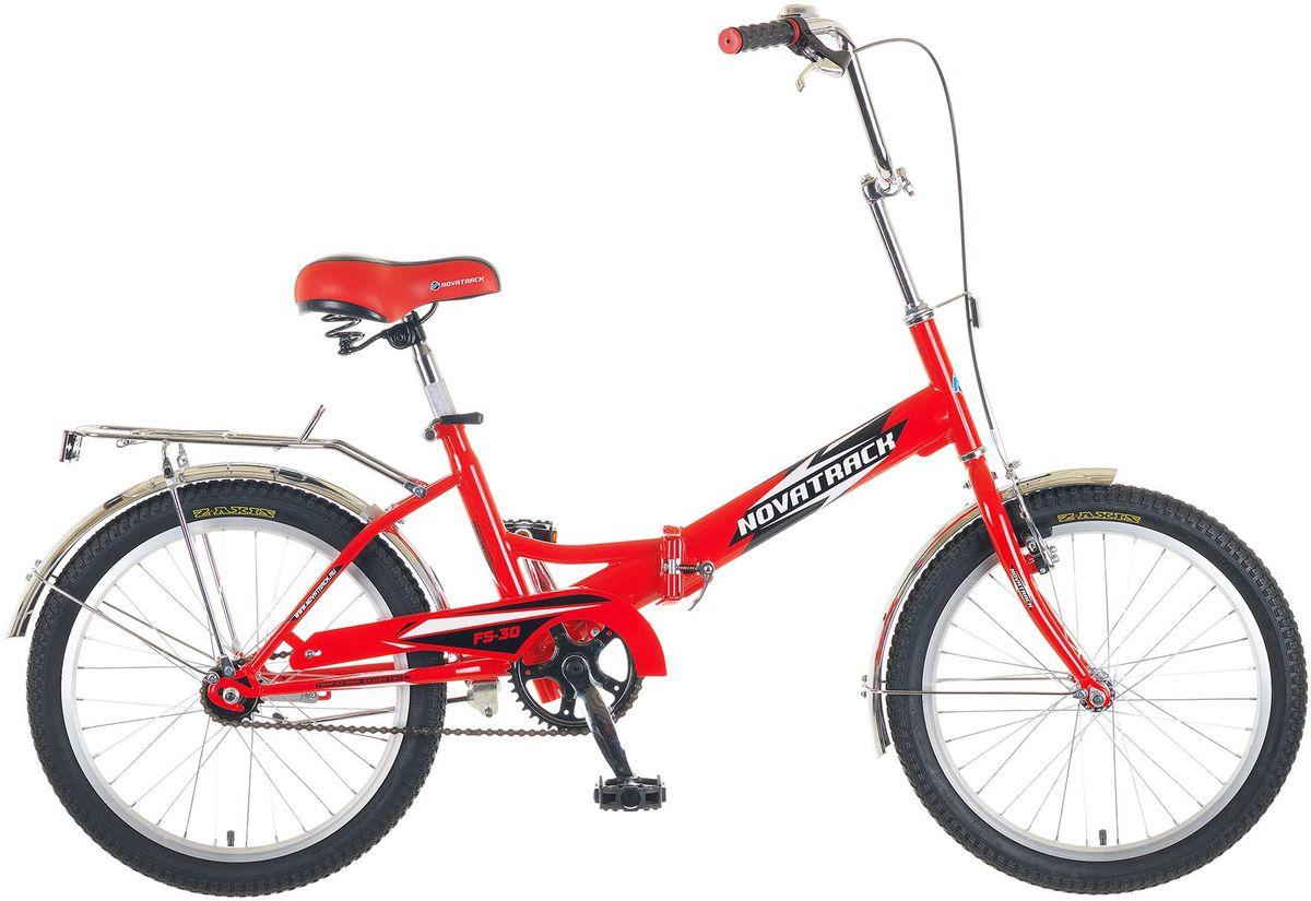 Велосипед детский Novatrack FS-30, цвет: красный, черный, белый, 2020FFS301V.RD5Novatrack FS-30 – это складной подростковый велосипед, рассчитанный на ребят 8-14 лет, который отличается неприхотливостью, хорошей управляемостью и практичностью. Стальная рама складывается пополам, позволяя разместить велосипед в автомобиле или компактно хранить его в домашних условиях. Стоит отметить широкий диапазон регулировки высоты сидения и руля, благодаря чему велосипед универсален и подойдет для ребят различного роста. Торможение осуществляется ножным тормозом, который работает при любых условиях. Велосипед оснащен хромированными крыльями, широким усиленным багажником, защитным кожухом цепи, подножкой и светоотражателями.Какой велосипед выбрать? Статья OZON Гид