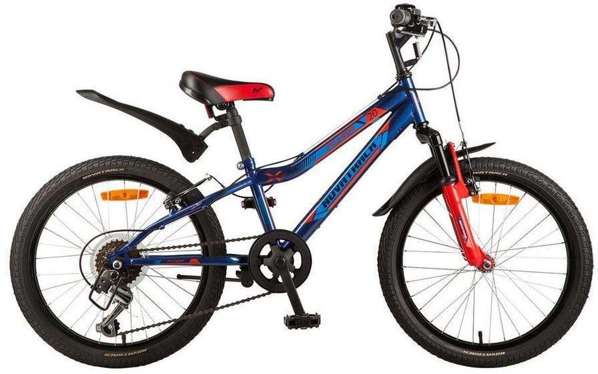 Велосипед детский Novatrack Flyer, цвет: синий, красный, 20 велосипед не скоростной