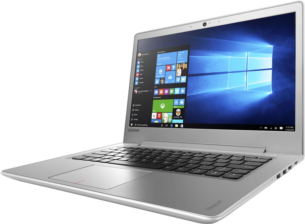 Lenovo IdeaPad 510S-14ISK, White (80TK0068RK)80TK0068RKТонкий и легкий 14-дюймовый ноутбук Lenovo IdeaPad 510S позволяет тебе эффективно работать и развлекаться, где бы ты ни находился. Ультрамобильный мощный ноутбук Lenovo IdeaPad 510S отлично подойдет для работы, развлечений и игр в поездках. IdeaPad 510S на 20 процентов тоньше и на 30 процентов легче большинства ноутбуков в своем классе.Высокопроизводительный, многофункциональный процессор Intel Core i5-6200U со встроенными функциями обеспечения безопасности открывает качественно новые возможности для работы, творчества и развлечений. Разбуди свою фантазию и раздвинь границы возможного при помощи ОС Windows 10, дополненной процессором Intel Core шестого поколения и дискретной видеокартой AMD Radeon R7 M460.Два стереофонических динамика Harman Audio обеспечивают отличный звук при просмотре фильмов и прослушивании музыки. Если нужно расслабиться — просто включи и наслаждайся звуком.До трех раз более высокая (по сравнению с традиционной) скорость Wi-Fi 802.11 a/c ноутбука IdeaPad 510S позволит тебе путешествовать по просторам Интернета, слушать музыку или смотреть фильмы и общаться с друзьями быстрее, чем когда-либо.С жестким диском емкостью 1 ТБ тебе не придется беспокоиться о том, где хранить свои данные, видео, музыку и фотографии.Оставлять ноутбук без присмотра в шумном кафе может быть опасно. Впрочем, в этом нет ничего страшного — IdeaPad 510S совместим с замками Kensington MiniSaver. Эти прочные и простые в использовании замки защитят твое устройство от кражи.Точные характеристики зависят от модификации.Ноутбук сертифицирован ЕАС и имеет русифицированную клавиатуру и Руководство пользователя.