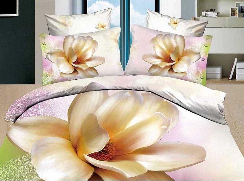 Комплект белья МарТекс Лилия, 1,5-спальный, наволочки 50х7001-0080-1Комплект постельного белья МарТекс Лилия, выполненный из сатина (100% хлопок), состоит из пододеяльника, простыни и двух наволочек. Изделия оформлены оригинальным рисунком. Сатин - прочная, легкая и мягкая на ощупь ткань. Белье из него нелиняет при стирке и легко гладится. Эта ткань традиционно считаетсяодной из лучших для изготовления постельного белья.Такой комплект подойдет для любого стилевого и цветового решения интерьера, а также создаст в доме уют. Приобретая комплект постельного белья МарТекс, вы можете быть уверенны в том, что покупкадоставит вам и вашим близким удовольствие и подарит максимальный комфорт.Советы по выбору постельного белья от блогера Ирины Соковых. Статья OZON Гид