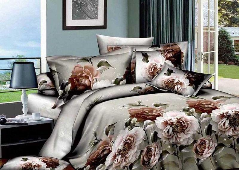 Комплект белья МарТекс Триумф, 2-спальный, наволочки 70х7001-0551-2Комплект постельного белья МарТекс Триумф, выполненный из сатина (100% хлопок), состоит из пододеяльника, простыни и двух наволочек. Изделия оформлены оригинальным принтом. Сатин - прочная, легкая и мягкая на ощупь ткань. Белье из него нелиняет при стирке и легко гладится. Эта ткань традиционно считаетсяодной из лучших для изготовления постельного белья.Такой комплект подойдет для любого стилевого и цветового решения интерьера, а также создаст в доме уют. Приобретая комплект постельного белья МарТекс, вы можете быть уверенны в том, что покупкадоставит вам и вашим близким удовольствие и подарит максимальный комфорт.