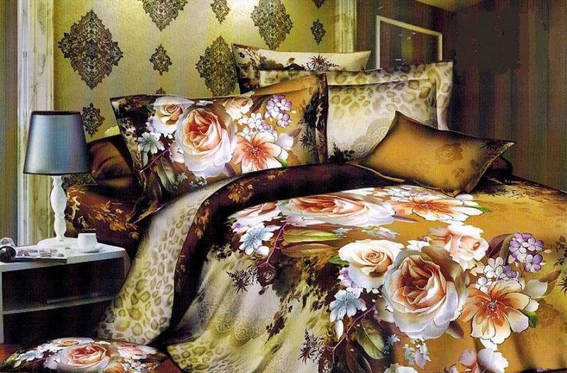 Комплект белья МарТекс, 1,5-спальный, наволочки 70х70. 01-1085-101-1085-1Комплект постельного белья МарТекс, выполненный из микрополиэстера, состоит из пододеяльника, простыни и двух наволочек. Постельное белье обладает яркими, сочными цветами. Изделия оформлены оригинальным принтом.Такой комплект подойдет для любого стилевого и цветового решения интерьера, а также создаст в доме уют.