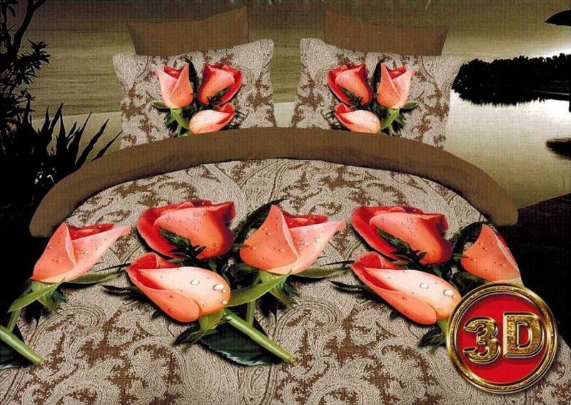 Комплект белья МарТекс, 1,5-спальный, наволочки 70х70. 01-1087-101-1087-1Комплект постельного белья МарТекс, выполненный из микрополиэстера, состоит из пододеяльника, простыни и двух наволочек. Изделия оформлены оригинальным принтом.Такой комплект подойдет для любого стилевого и цветового решения интерьера, а также создаст в доме уют.