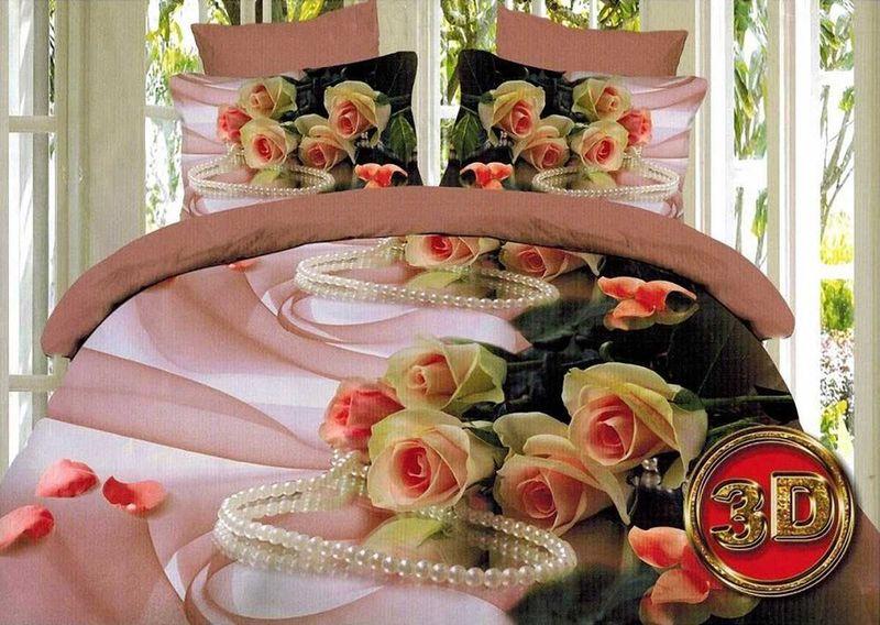 Комплект белья МарТекс Маргарита, 1,5-спальный, наволочки 70х7001-1100-1Комплект постельного белья МарТекс Маргарита, выполненный из микрополиэстера, состоит из пододеяльника, простыни и двух наволочек. Изделия оформлены оригинальным рисунком. Такой комплект подойдет для любого стилевого и цветового решения интерьера, а также создаст в доме уют. Приобретая комплект постельного белья МарТекс, вы можете быть уверенны в том, что покупка доставит вам и вашим близким удовольствие и подарит максимальный комфорт.