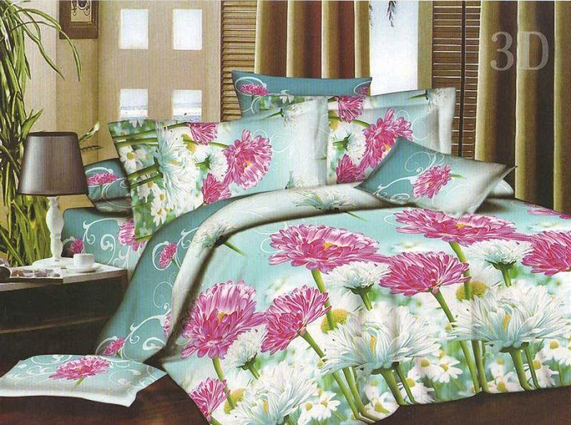 Комплект белья МарТекс, 1,5-спальный, наволочки 70х70. 01-1141-101-1141-1Комплект постельного белья МарТекс, выполненный из микрополиэстера, состоит из пододеяльника, простыни и двух наволочек. Постельное белье обладает яркими, сочными цветами. Изделия оформлены оригинальным принтом.Такой комплект подойдет для любого стилевого и цветового решения интерьера, а также создаст в доме уют.