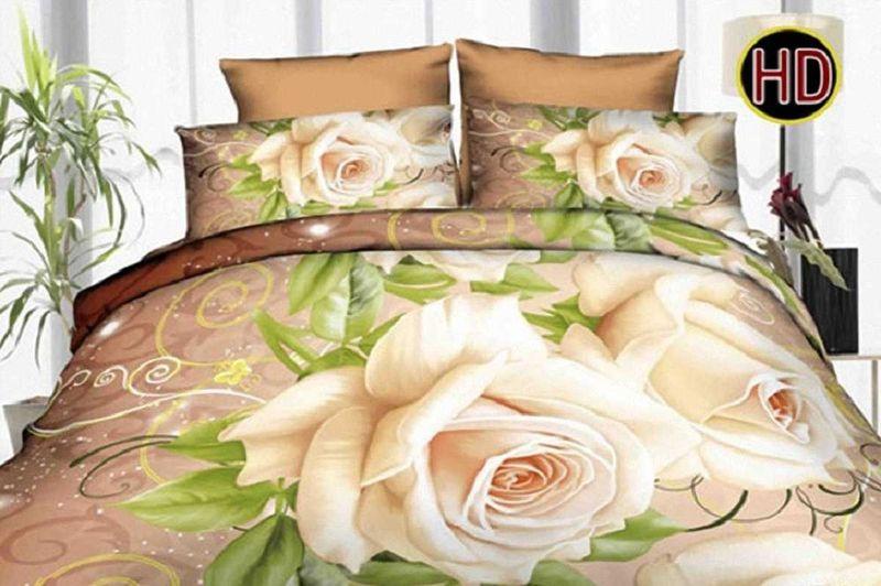 Комплект белья МарТекс, 1,5-спальный, наволочки 70х70. 01-1166-101-1166-1Комплект постельного белья МарТекс, выполненный из микрополиэстера, состоит из пододеяльника, простыни и двух наволочек. Изделия оформлены оригинальным цветочным принтом.Такой комплект подойдет для любого стилевого и цветового решения интерьера, а также создаст в доме уют.