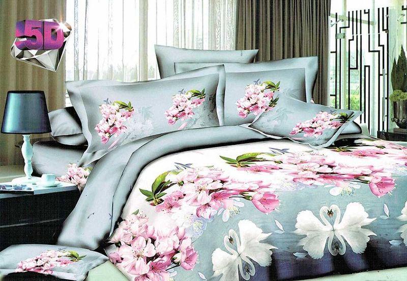 Комплект белья МарТекс Нисан, 2-спальный, наволочки 70х70 брызговики на нисан ноте