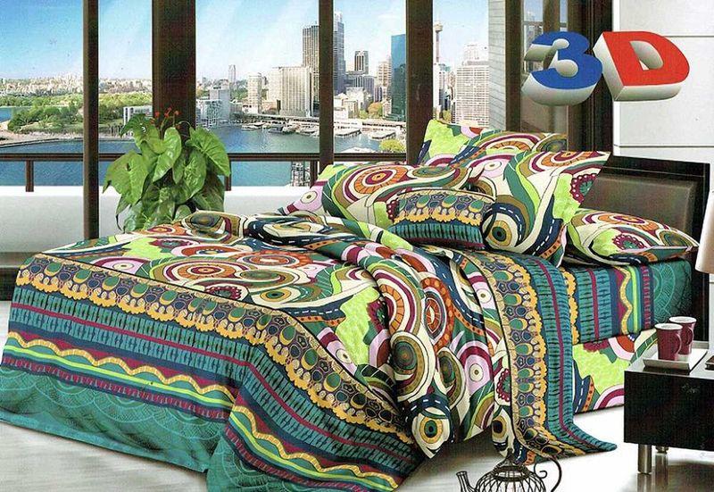 Комплект белья МарТекс Фантазия, 2-спальный, наволочки 70х70 комплект белья в киеве круглосуточно
