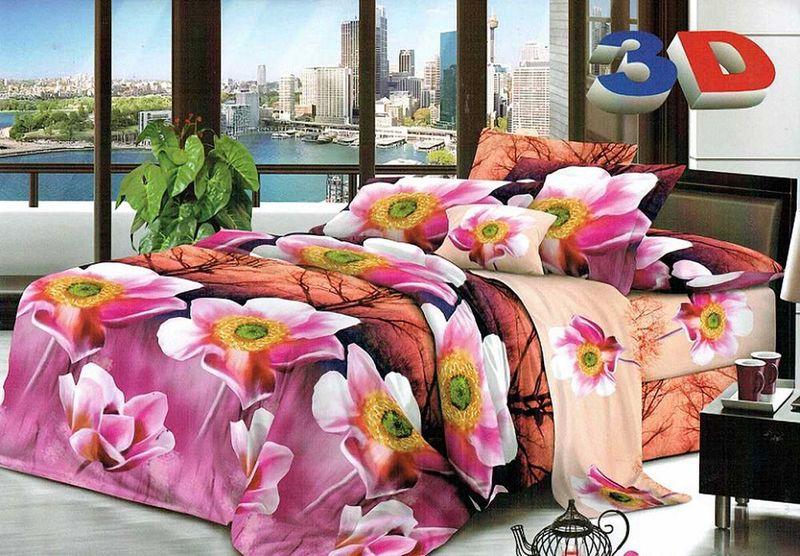 Комплект белья МарТекс Ангара, 1,5-спальный, наволочки 70х7001-1211-1Комплект постельного белья МарТекс Ангара, выполненный из микрополиэстера, состоит из пододеяльника, простыни и двух наволочек. Изделия оформлены изящным рисунком. Такой комплект подойдет для любого стилевого и цветового решения интерьера, а также создаст в доме уют.