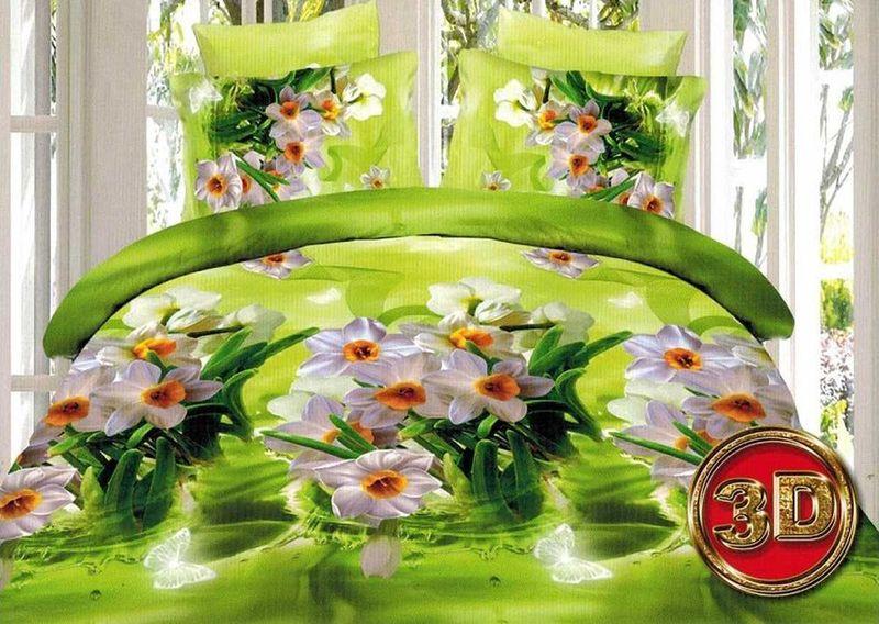 Комплект белья МарТекс Нарцис, 1,5-спальный, наволочки 70х7001-1272-1Комплект постельного белья МарТекс Нарцис, выполненный из микрополиэстера, состоит из пододеяльника, простыни и двух наволочек. Изделия оформлены оригинальным рисунком. Такой комплект подойдет для любого стилевого и цветового решения интерьера, а также создаст в доме уют. Приобретая комплект постельного белья МарТекс, вы можете быть уверенны в том, что покупка доставит вам и вашим близким удовольствие и подарит максимальный комфорт.