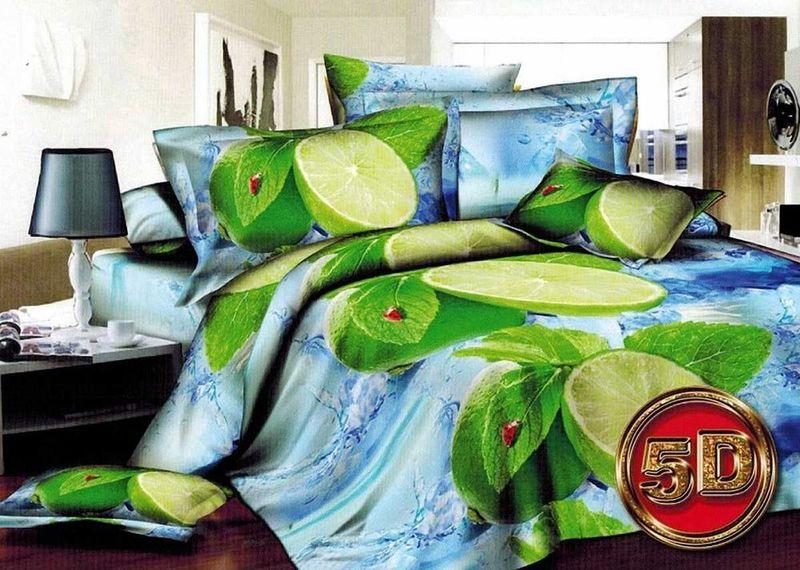 Комплект белья МарТекс Лимон, 2-спальный, наволочки 70х70 комплект белья в киеве круглосуточно