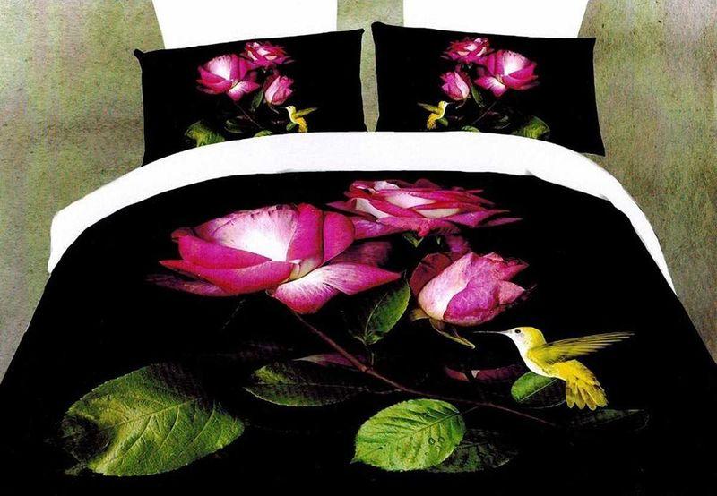 Комплект белья МарТекс Дикая роза, 1,5-спальный, наволочки 70х70 комплект белья в киеве круглосуточно
