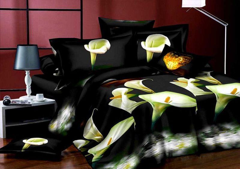 Комплект белья МарТекс Ночь, 1,5-спальный, наволочки 70х70 комплект белья в киеве круглосуточно