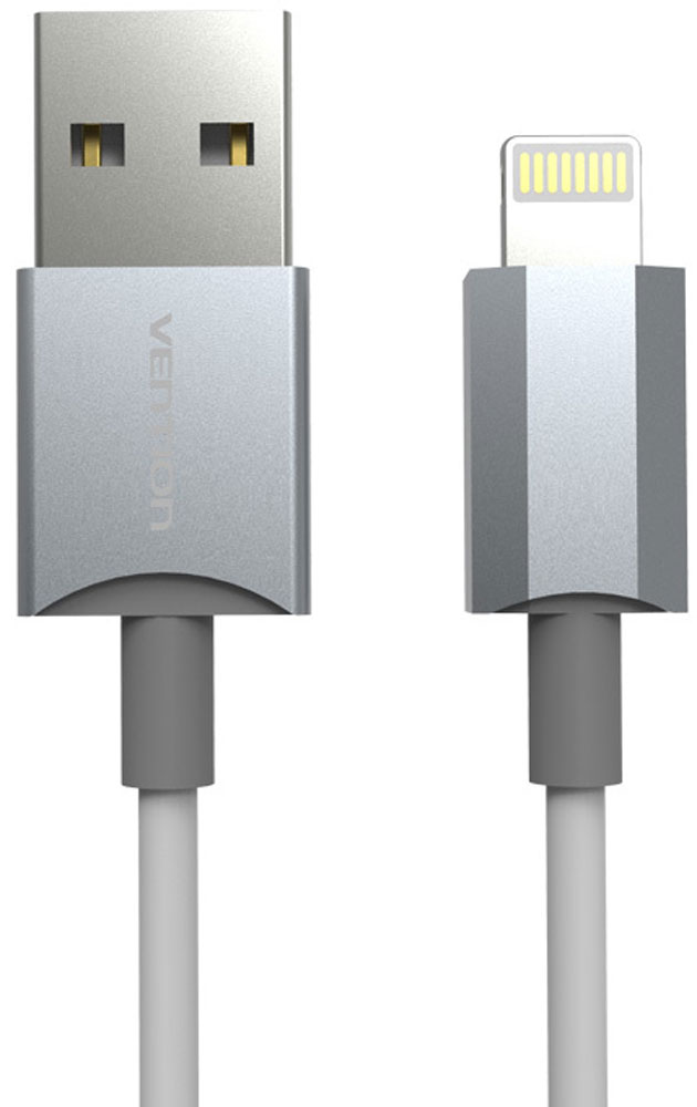 Vention кабель Lightning для iPhone 5/6, SilverVAI-C02-W100Дата-кабель Vention позволяет передавать данные, а также заряжать устройства Apple с разъемом Lightning (сертифицирован Apple MFI). Продукция Vention соответствует следующим сертификатам: RoHS, CE, FCC, TIA, ISO.Тип оболочки: ПВХПоддержка: iPhone/iPad/iPodПропускная способность: до 480 Мбит/сек