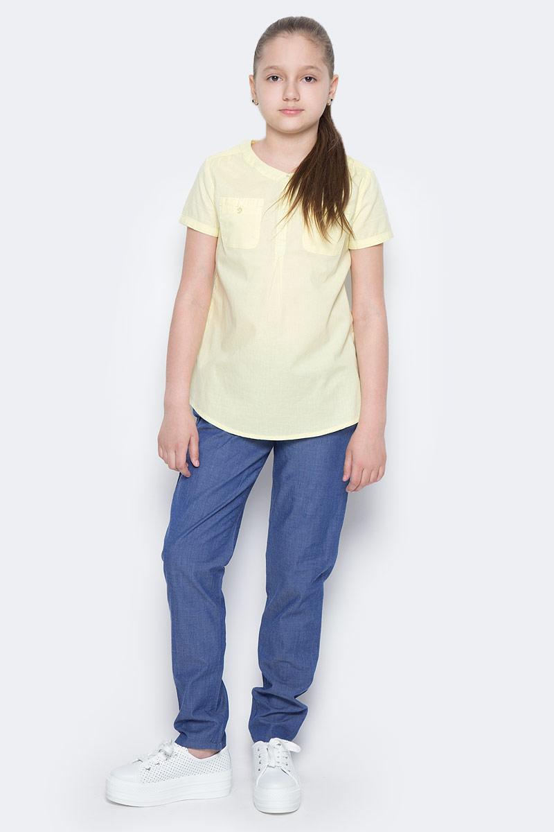 Брюки для девочки Sela, цвет: синий джинс. P-615/511-7223. Размер 134, 9 летP-615/511-7223Стильные брюки для девочки Sela выполнены из натурального хлопка. Брюки свободного кроя и стандартной посадки на талии имеют широкий пояс на мягкой резинке. Модель дополнена двумя втачными карманами спереди.