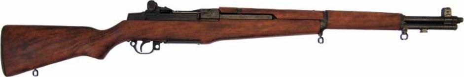 Винтовка M1 Гаранд, калибр 30. Оружейная реплика. Вторая мировая войнаD7/1105Перед Вами винтовка самозарядная серии М-1 Гаранд, сделана по образцу США 1932 г DE-1105, которую оценит каждый любитель такого типа оружия. Является копией винтовок второй мировой войны. Отличается своим качеством и точностью стрельбы. Копия полностью копирует оригинал по размеру.