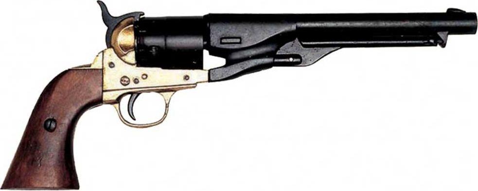 Револьвер системы Кольт. Оружейная реплика. Гражданская война, США, 1886 год, латунь в москве травматический револьвер таурус
