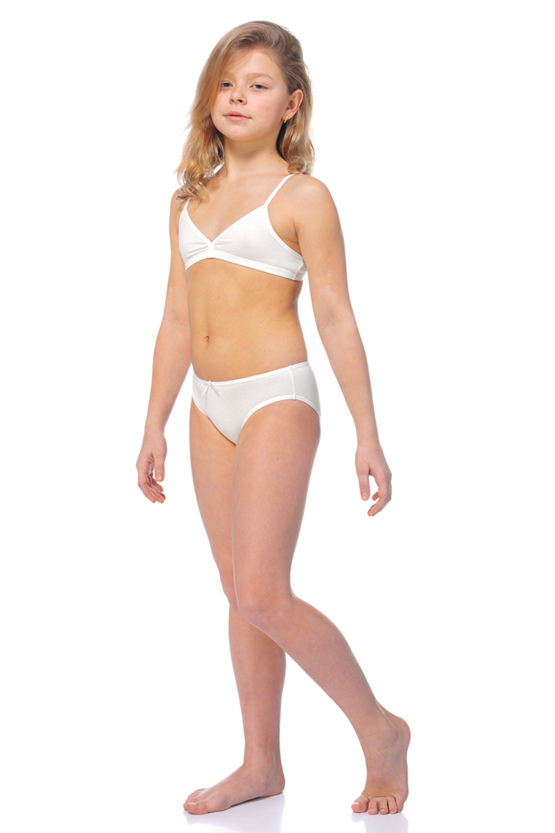 Комплект для девочки: трусы, майка Lowry, цвет: белый. GBR/GP-300. Размер XXL (146/152) трусы для девочки lowry цвет белый оранжевый 3 шт gp 270 размер xxs 86 92