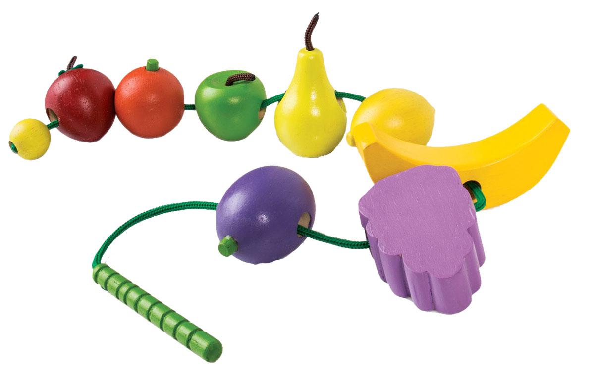 GuideCraft Развивающая игрушка Count and Lace Fruit игрушка guidecraft geo shape lacing g6801