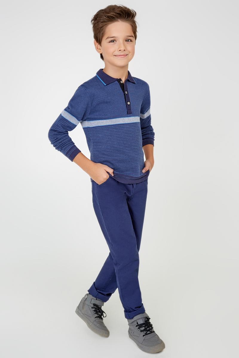 Поло с длинным рукавом для мальчика Acoola Tesla, цвет: синий. 20110310037_500. Размер 16420110310037_500Поло с длинным рукавом Acoola Tesla - прекрасная вещь базового гардероба для вашего мальчика. Изделие выполнено из вязаного жаккардового трикотажа с полосками, мягкого и приятного на ощупь. Модель прямого кроя с отложным воротником и длинными рукавами. На груди - короткая планка с застежкой на пуговицы. В таком поло ваш ребенок будет чувствовать себя уютно, комфортно и всегда будет в центре внимания!