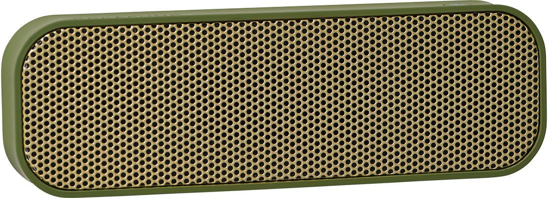 Kreafunk aGROOVE, Army беспроводная портативная колонкаKfdz58Kreafunk aGROOVE - легкая беспроводная колонка со встроенным аккумулятором. Подключается к смартфону через Bluetooth или с помощью кабеля 3,5 мм (mini-jack), который входит в комплект. Простой, лаконичный и стильный дизайн. Корпус колонки имеет покрытие soft touch, приятное на ощупь, а внутри встроен микрофон для совершения звонков. Благодаря компактному размеру aGROOVE легко брать с собой, а качественные компоненты дают чистый и насыщенный звук. Время работы без подзарядки – до 20 часов (при 80% громкости). Поставляется в стильной деревянной коробке, которую украшают слова известного американского радиоведущего Джорджа Еллинека: История человечества – это история его песен.Емкость аккумулятора: 500 мAч