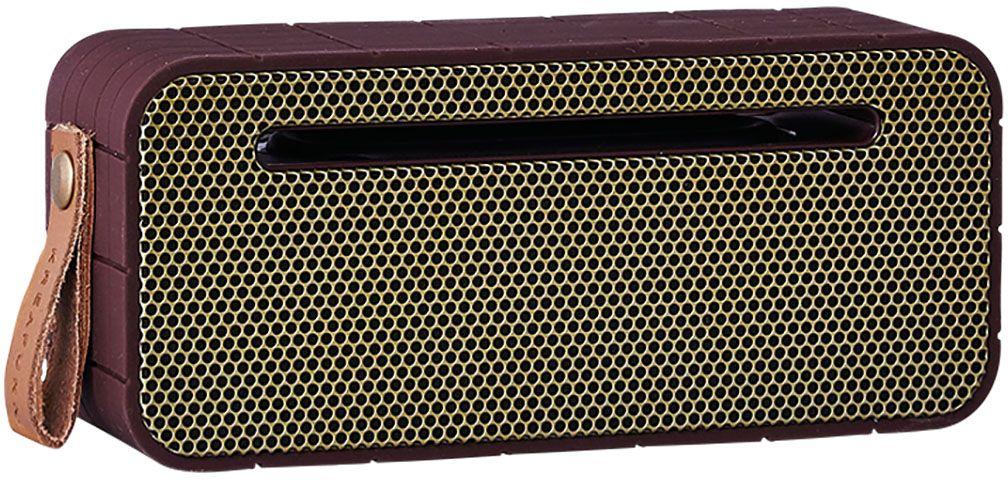 Kreafunk aMOVE, Plum беспроводная портативная колонкаKfng67Kreafunk aMOVE - компактная беспроводная колонка в стильном ретро-дизайне. Подключается к смартфону через Bluetooth или с помощью кабеля 3,5 мм (mini-jack), который входит в комплект. Колонка способна работать до 20 часов без подзарядки (при 80% громкости), а благодаря встроенному микрофону с системой hands free можно принимать звонки. Корпус имеет нескользящее прорезиненное покрытие, что придает ему дополнительную устойчивость. aMOVE компактная и легкая, ее можно брать с собой на пляж, пикник, в поход или в путешествие. Колонку также можно использовать в качестве зарядного устройства. Качественное воспроизведение звука, простота эксплуатации и лаконичный дизайн не оставят равнодушными всех ценителей прекрасного. Поставляется в красивой деревянной коробке, которую украшают слова из песни Боба Марли: Одна хорошая вещь о музыке, когда она бьет по вам, вы не чувствуете боли.Емкость аккумулятора: 1800 мАч Как выбрать портативную колонку. Статья OZON Гид