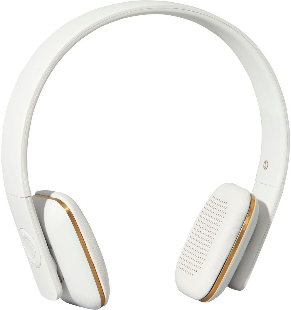 Kreafunk aHEAD, White наушникиKfss01Kreafunk aHEAD - беспроводные наушники, созданные для настоящих меломанов и модников. Это не только полезный гаджет, но и стильный аксессуар, который дополнит имидж и подчеркнет индивидуальность. Наушники оснащены Bluetooth-гарнитурой и совместимы с любым смартфоном. Панель управления находится на одном из наушников, что позволяет легко регулировать музыку, уровень громкости или даже принимать телефонные звонки. Подушки наушников выполнены из мягкой эко-кожи, а настраиваемый ободок имеет приятное покрытие soft touch. Великолепное качество звука, простота эксплуатации и лаконичный дизайн - этим гаджетом захочется пользоваться изо дня в день. В комплекте фирменный мешочек из PU кожи. Поставляются в стильной деревянной упаковке, поэтому могут стать отличным подарком меломанам и всем поклонникам скандинавского дизайна. Также коробку украшают слова Фридриха Ницше: Без музыки жизнь была бы ошибкой.
