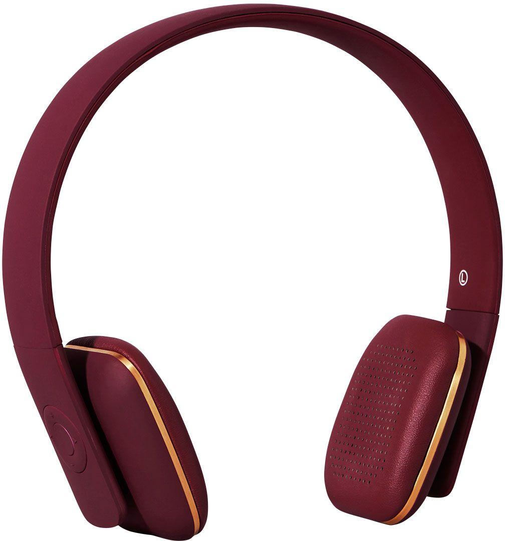 Kreafunk aHEAD, Plum наушникиKfss07Kreafunk aHEAD - беспроводные наушники, созданные для настоящих меломанов и модников. Это не только полезный гаджет, но и стильный аксессуар, который дополнит имидж и подчеркнет индивидуальность. Наушники оснащены Bluetooth-гарнитурой и совместимы с любым смартфоном. Панель управления находится на одном из наушников, что позволяет легко регулировать музыку, уровень громкости или даже принимать телефонные звонки. Подушки наушников выполнены из мягкой эко-кожи, а настраиваемый ободок имеет приятное покрытие soft touch. Великолепное качество звука, простота эксплуатации и лаконичный дизайн - этим гаджетом захочется пользоваться изо дня в день. В комплекте фирменный мешочек из PU кожи. Поставляются в стильной деревянной упаковке, поэтому могут стать отличным подарком меломанам и всем поклонникам скандинавского дизайна. Также коробку украшают слова Фридриха Ницше: Без музыки жизнь была бы ошибкой.