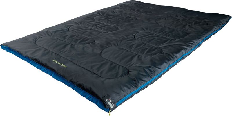 Спальный мешок-одеяло High Peak Ceduna Duo, цвет: антрацит, синий, левосторонняя молния спальный мешок high peak lowland