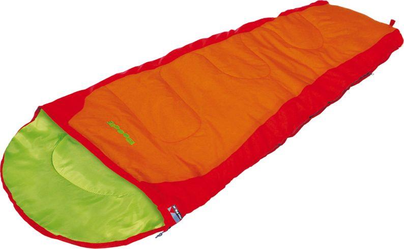 Спальный мешок-одеяло High Peak Kiowa, цвет: красный, оранжевый, левосторонняя молния23038Легкий детский спальный мешок High Peak Kiowa с синтетическим наполнителем в форме одеяла имеет двухстороннюю молнию с защитой от заедания. Наполнитель Dura Loft + Hollowfiber 70%/30% гарантирует комфортный сон при температуре воздуха +14°С. Спальный мешок Kiowa оптимально подходит для летних походов и отдыха за городом. В комплекте со спальником идет компрессионный транспортировочный чехол, объем 7,6 литров.