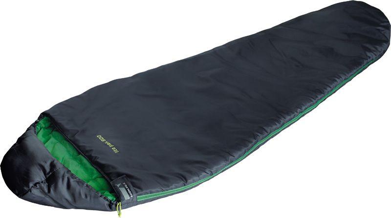 Спальный мешок High Peak Lite Pak 800, цвет: антрацит, зеленый, левосторонняя молния спальный мешок high peak highland