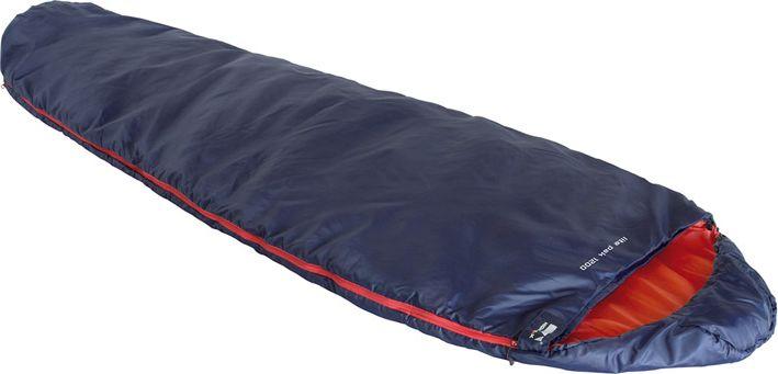 Спальный мешок High Peak Lite Pak 1200, цвет: синий, оранжевый, левосторонняя молния спальный мешок high peak highland