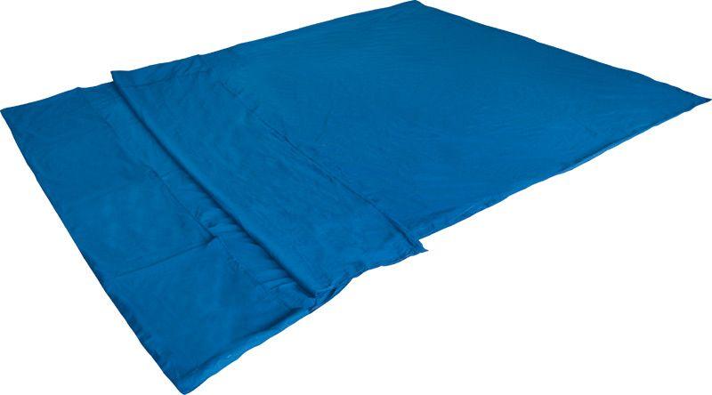 Вставка в спальный мешок High Peak Cotton Inlett Double, цвет: синий, 225 х 180 см. 23508 cпальный мешок high peak ellipse 250 l dark blue 23037