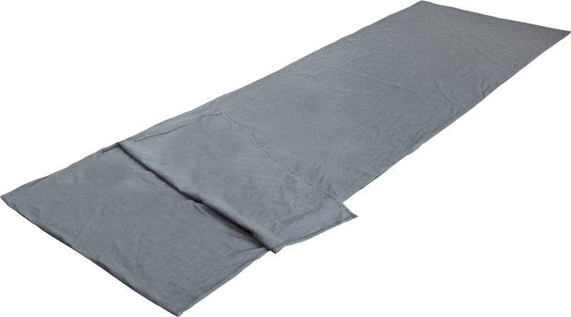 Вставка в спальный мешок High Peak TC Inlett Travel, цвет: серый, 225 х 80 см. 23527 cпальный мешок high peak ellipse 250 l dark blue 23037