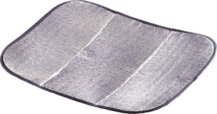 Коврик-сидушка High Peak Alukissen, цвет: алюминиевый, черный, 35 х 45 х 0,2 см, 2 шт походный душ high peak aquadome 14010bz