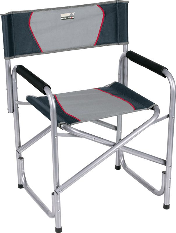 Кресло складное High Peak Campingstuhl Cadiz, цвет: серый, темно-серый, 58 х 48 х 44/78 см