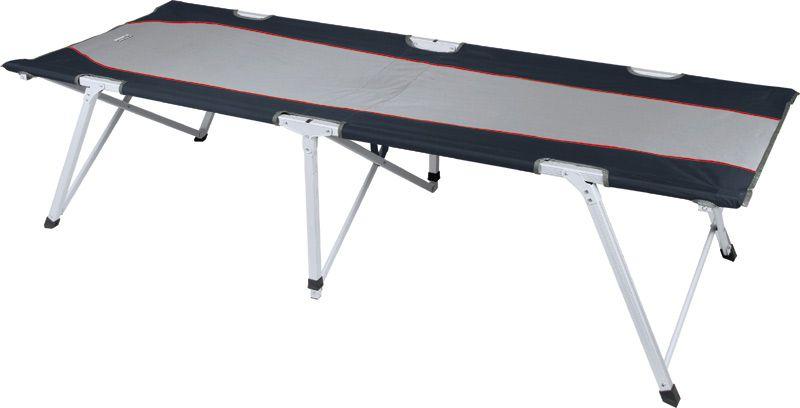 Кровать High Peak Campingliege Toledo XL, цвет: серый, темно-серый, 204 х 78,5 х 51 см44139Высококачественная раскладная туристическая кровать увеличенного размера High Peak Campingliege Toledo XL отлично подойдет для отдыха на даче или природе. Легко устанавливается и собирается. Несущая рама изготовлена из алюминиевого профиля 25 х 25 мм., а ложе из прочного полиэстера 600D. В сложенном виде занимает мало места. В комплекте практичный транспортировочный мешок.
