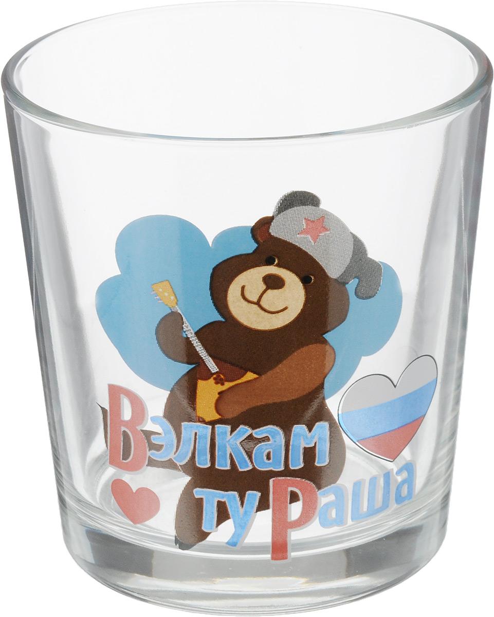 Стакан OSZ Ода. Вэлкам ту раша. Медведь, 250 мл05C1249-RUS_МедведьСтакан OSZ Ода. Вэлкам ту раша. Медведь изготовлен из стекла и декорирован принтом.Диаметр (по верхнему краю): 8 см. Высота: 8 см. Объем: 250 мл.